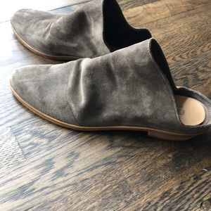 Gorgeous Italian gray suede mules Size 41